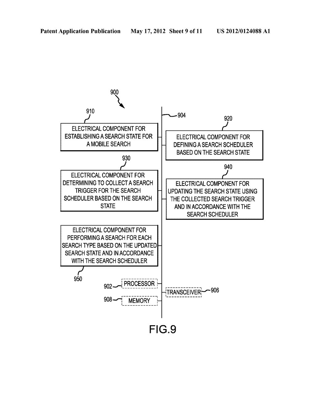 APPARATUS AND METHOD FOR MOBILE SEARCH BASED ON SEARCH TRIGGERS - diagram, schematic, and image 10