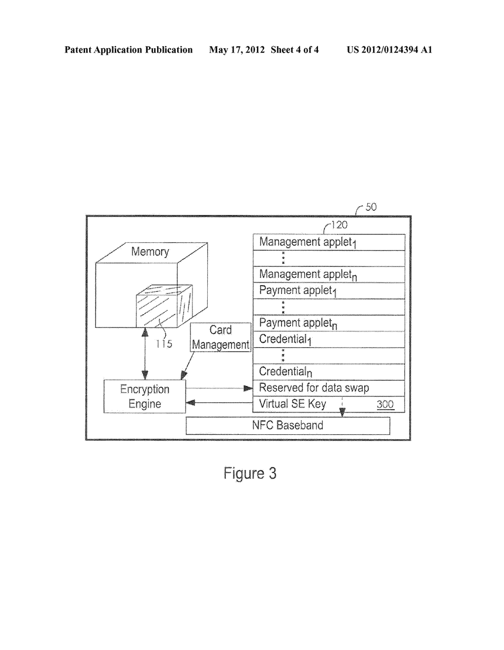 System and Method for Providing a Virtual Secure Element on a Portable     Communication Device - diagram, schematic, and image 05