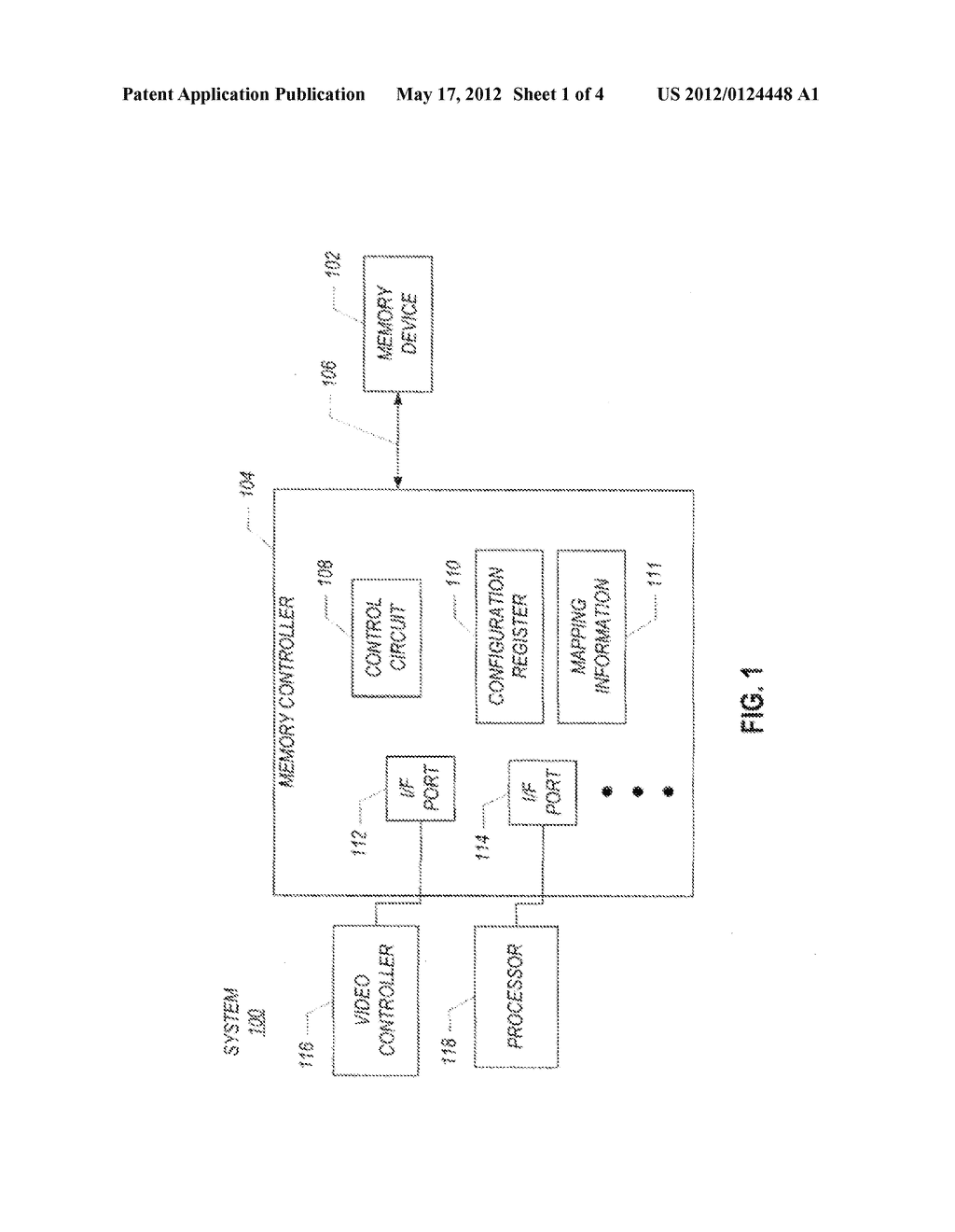 MEMORY SUBSYSTEM HAVING A FIRST PORTION TO STORE DATA WITH ERROR     CORRECTION CODE INFORMATION AND A SECOND PORTION TO STORE DATA WITHOUT     ERROR CORRECTION CODE INFORMATION - diagram, schematic, and image 02