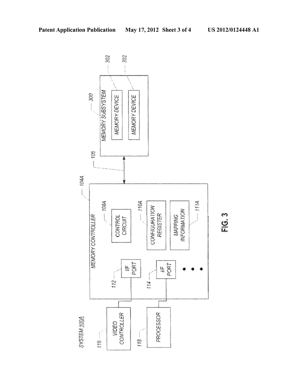 MEMORY SUBSYSTEM HAVING A FIRST PORTION TO STORE DATA WITH ERROR     CORRECTION CODE INFORMATION AND A SECOND PORTION TO STORE DATA WITHOUT     ERROR CORRECTION CODE INFORMATION - diagram, schematic, and image 04