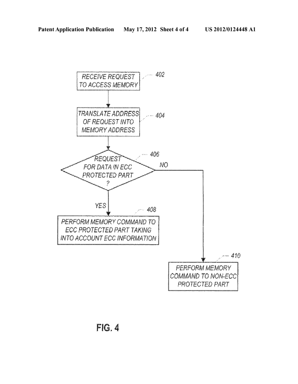 MEMORY SUBSYSTEM HAVING A FIRST PORTION TO STORE DATA WITH ERROR     CORRECTION CODE INFORMATION AND A SECOND PORTION TO STORE DATA WITHOUT     ERROR CORRECTION CODE INFORMATION - diagram, schematic, and image 05