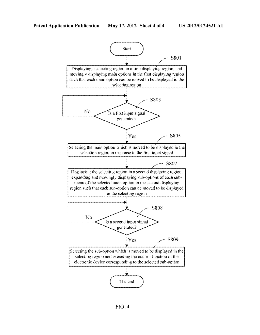 ELECTRONIC DEVICE HAVING MENU AND DISPLAY CONTROL METHOD THEREOF - diagram, schematic, and image 05