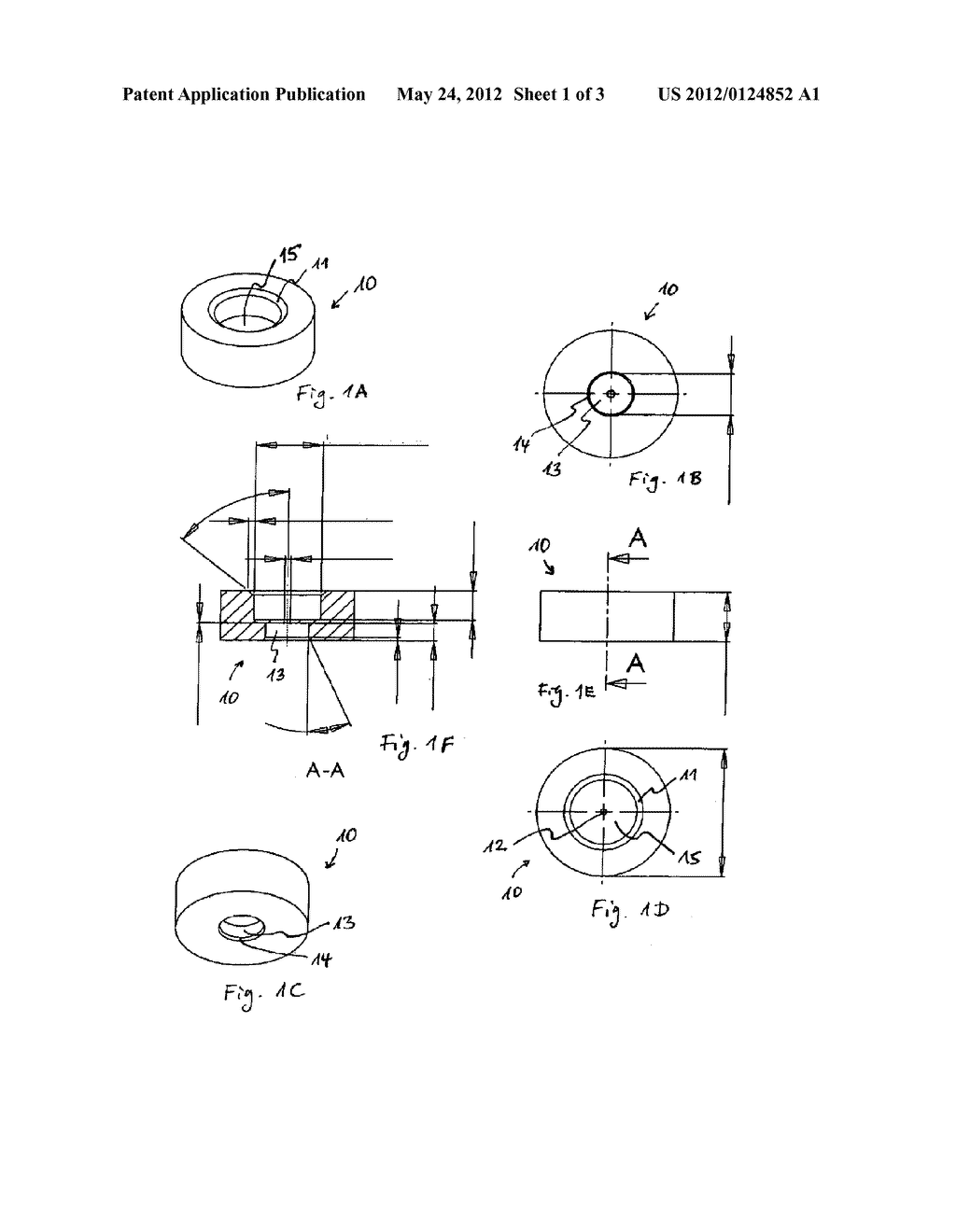 Spacer for Placing Retroreflectors of Varying Sizes on a Standard Drill     Adapter - diagram, schematic, and image 02