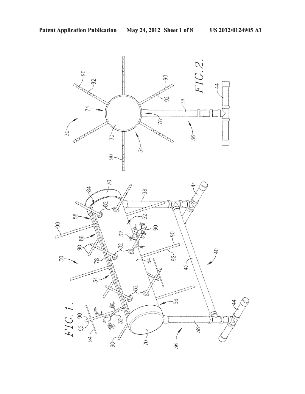 METHOD AND APPARATUS FOR GROWING PLANTS - diagram, schematic, and image 02