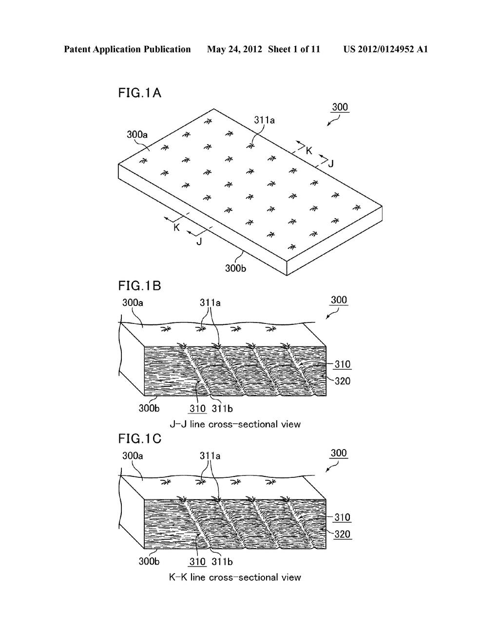 MAT, HOLDING SEALING MATERIAL, METHOD FOR PRODUCING MAT, AND EXHAUST GAS     PURIFYING APPARATUS - diagram, schematic, and image 02