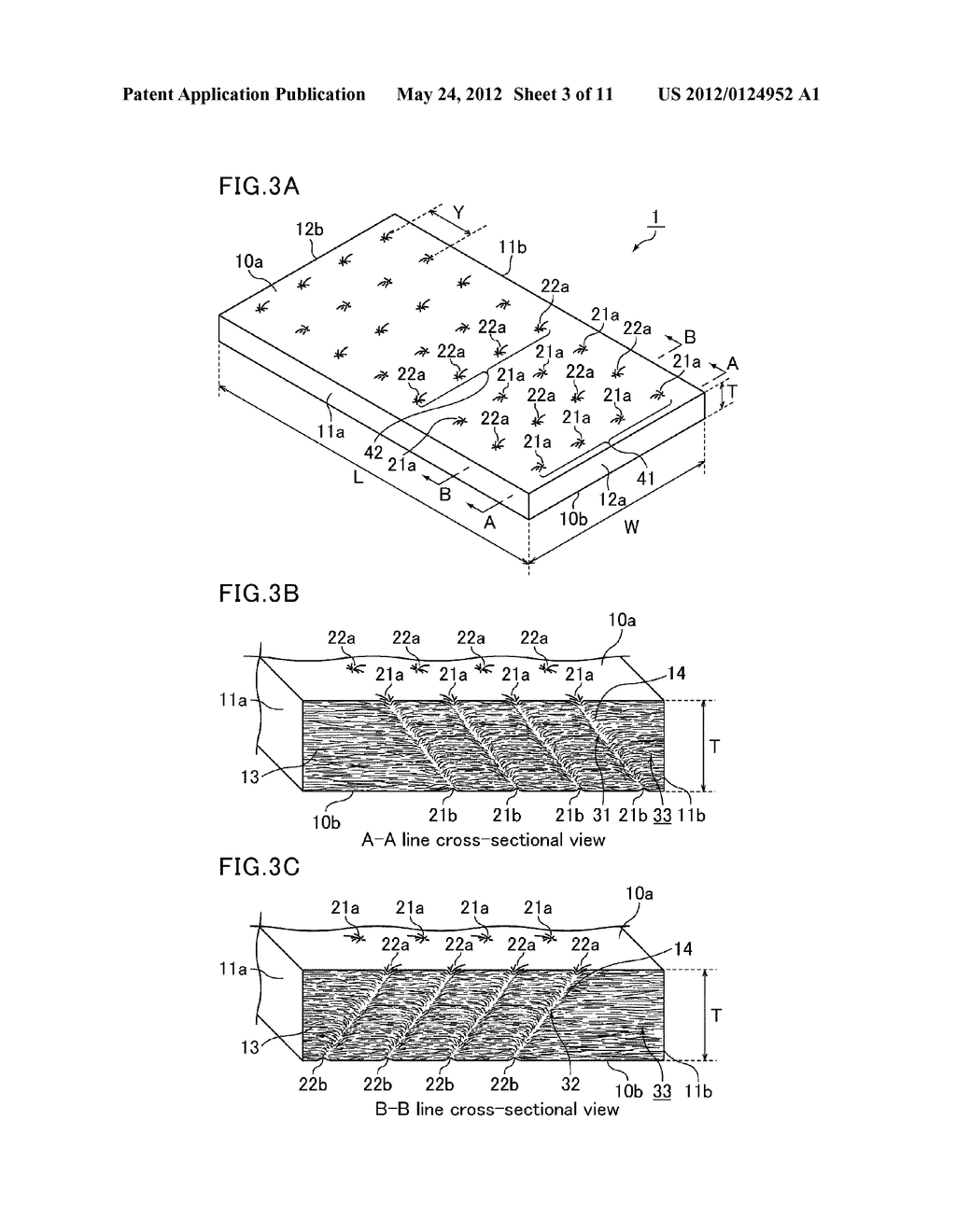 MAT, HOLDING SEALING MATERIAL, METHOD FOR PRODUCING MAT, AND EXHAUST GAS     PURIFYING APPARATUS - diagram, schematic, and image 04