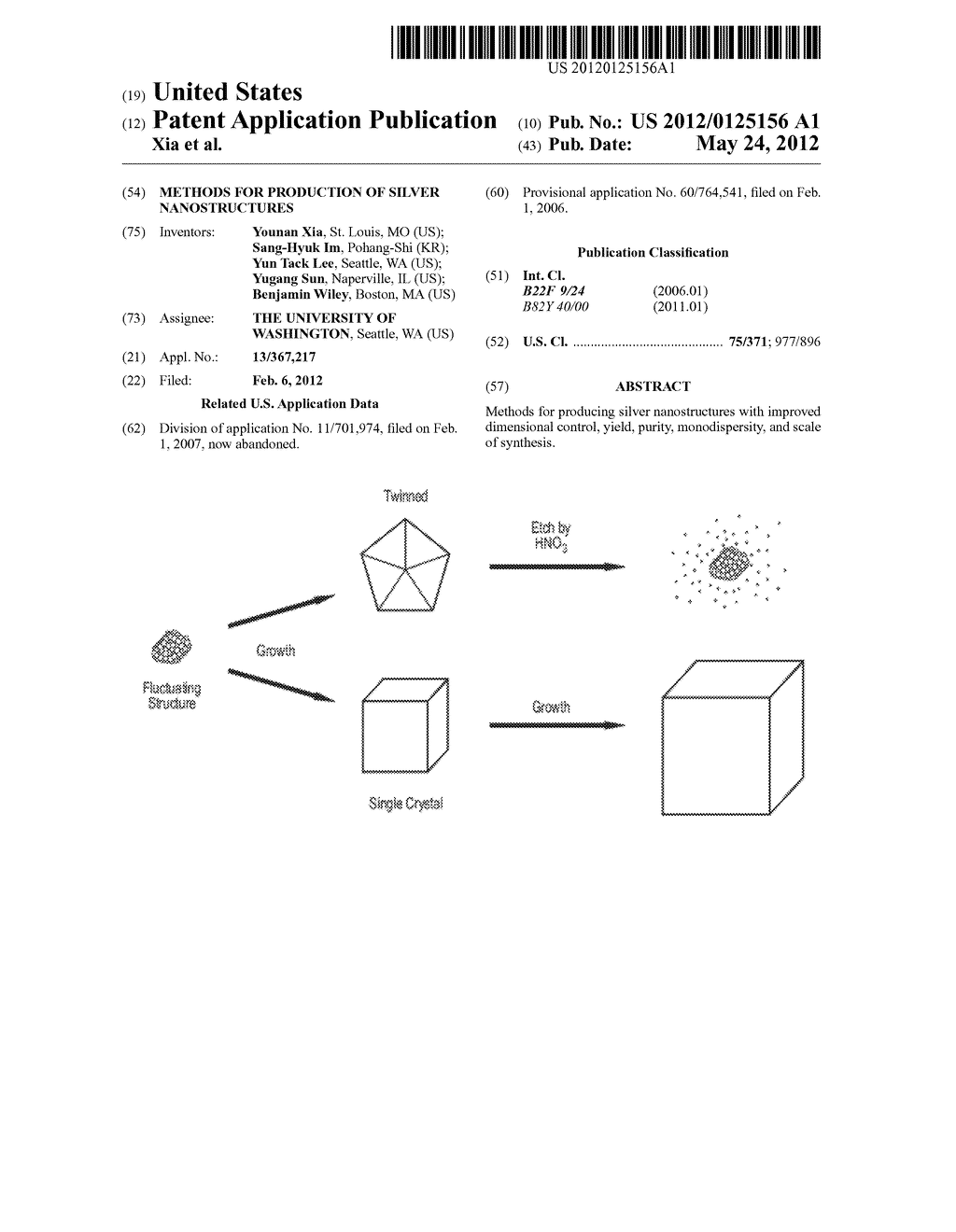 METHODS FOR PRODUCTION OF SILVER NANOSTRUCTURES - diagram, schematic, and image 01