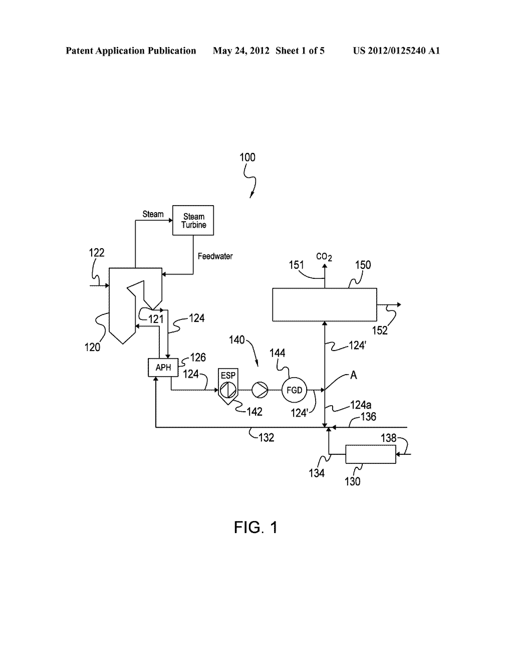 SYSTEM AND METHOD OF MANAGING ENERGY UTILIZED IN A FLUE GAS PROCESSING     SYSTEM - diagram, schematic, and image 02
