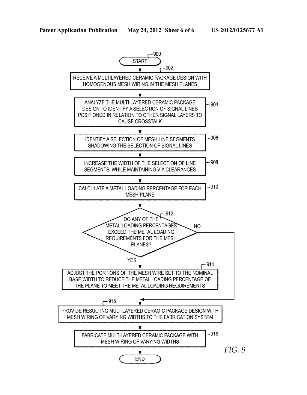 CROSSTALK REDUCTION BETWEEN SIGNAL LAYERS IN A MULTILAYERED PACKAGE BY     VARIABLE-WIDTH MESH PLANE STRUCTURES - diagram, schematic, and image 07
