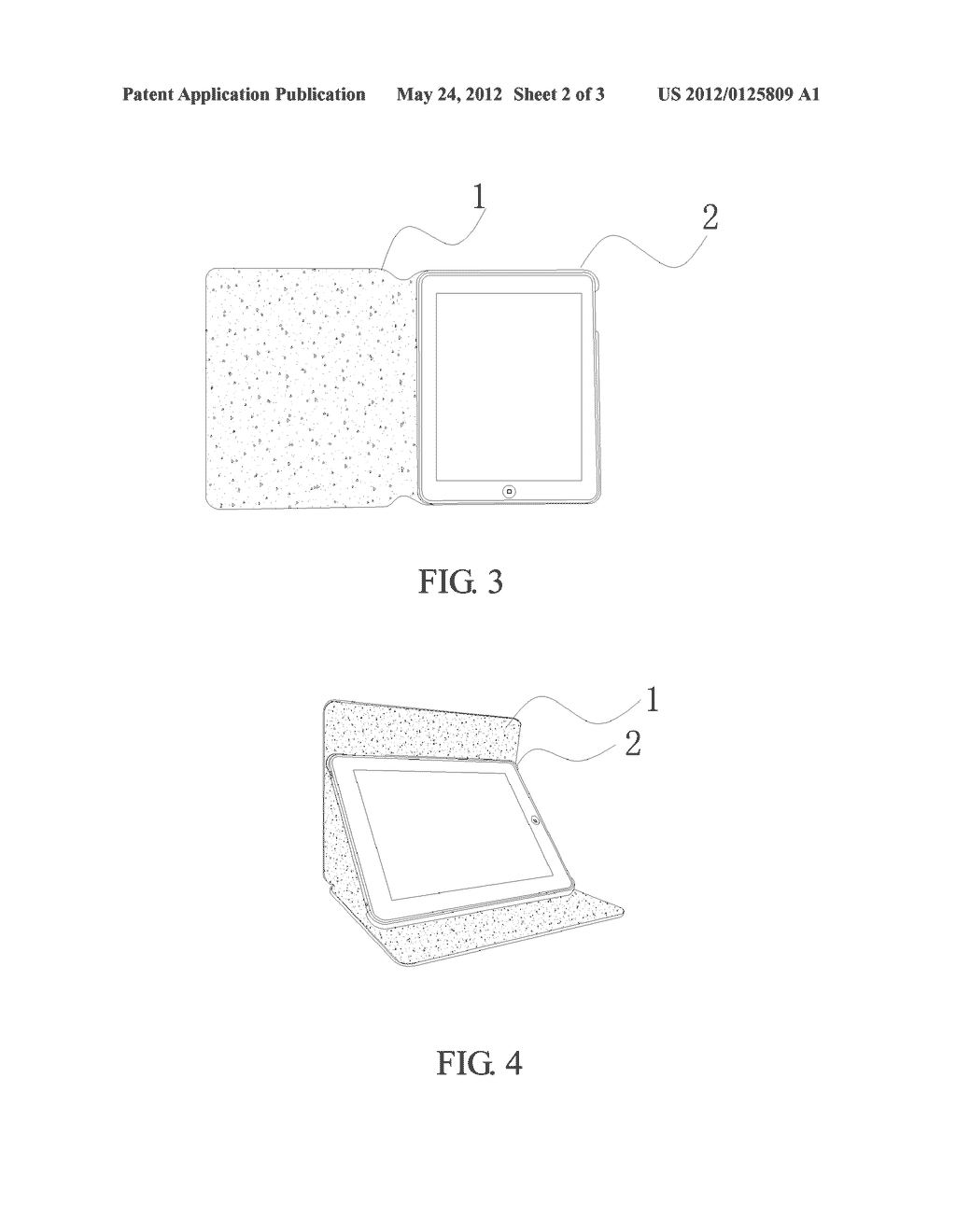 Protective case for a tablet computer - diagram, schematic, and image 03