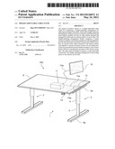 HEIGHT-ADJUSTABLE TABLE STAND diagram and image