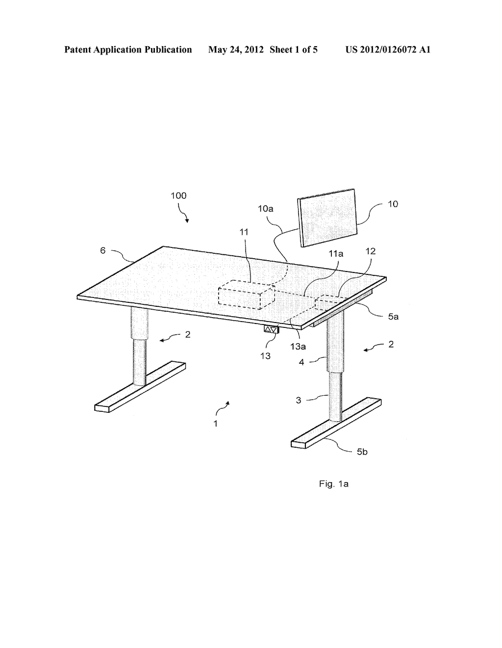 HEIGHT-ADJUSTABLE TABLE STAND - diagram, schematic, and image 02