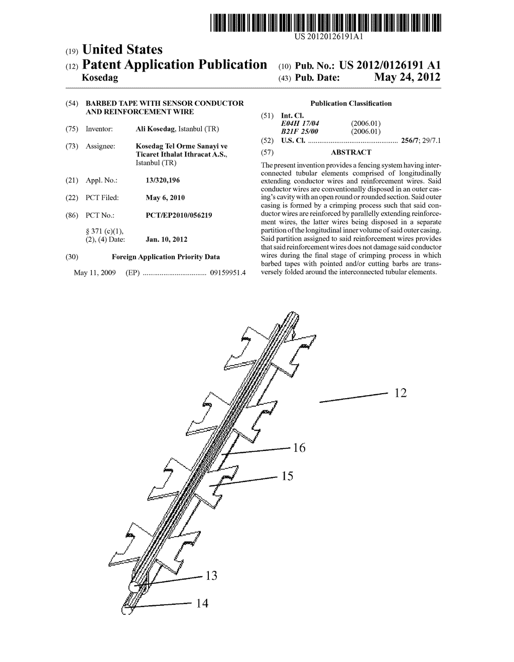 barbed tape with sensor conductor and reinforcement wire diagram barbed wire graphics barbed tape with sensor conductor and reinforcement wire diagram, schematic, and image 01