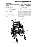 Adjustable Wheelchair diagram and image