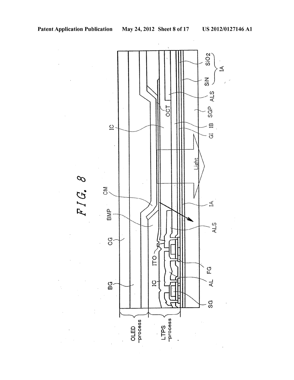 Organic Electroluminescent Light Emitting Display Device - diagram, schematic, and image 09