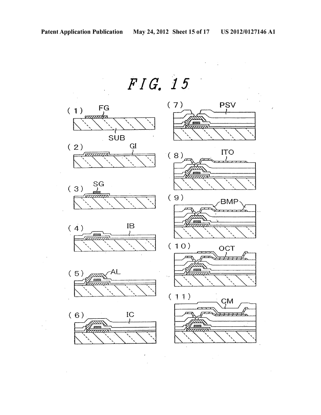 Organic Electroluminescent Light Emitting Display Device - diagram, schematic, and image 16