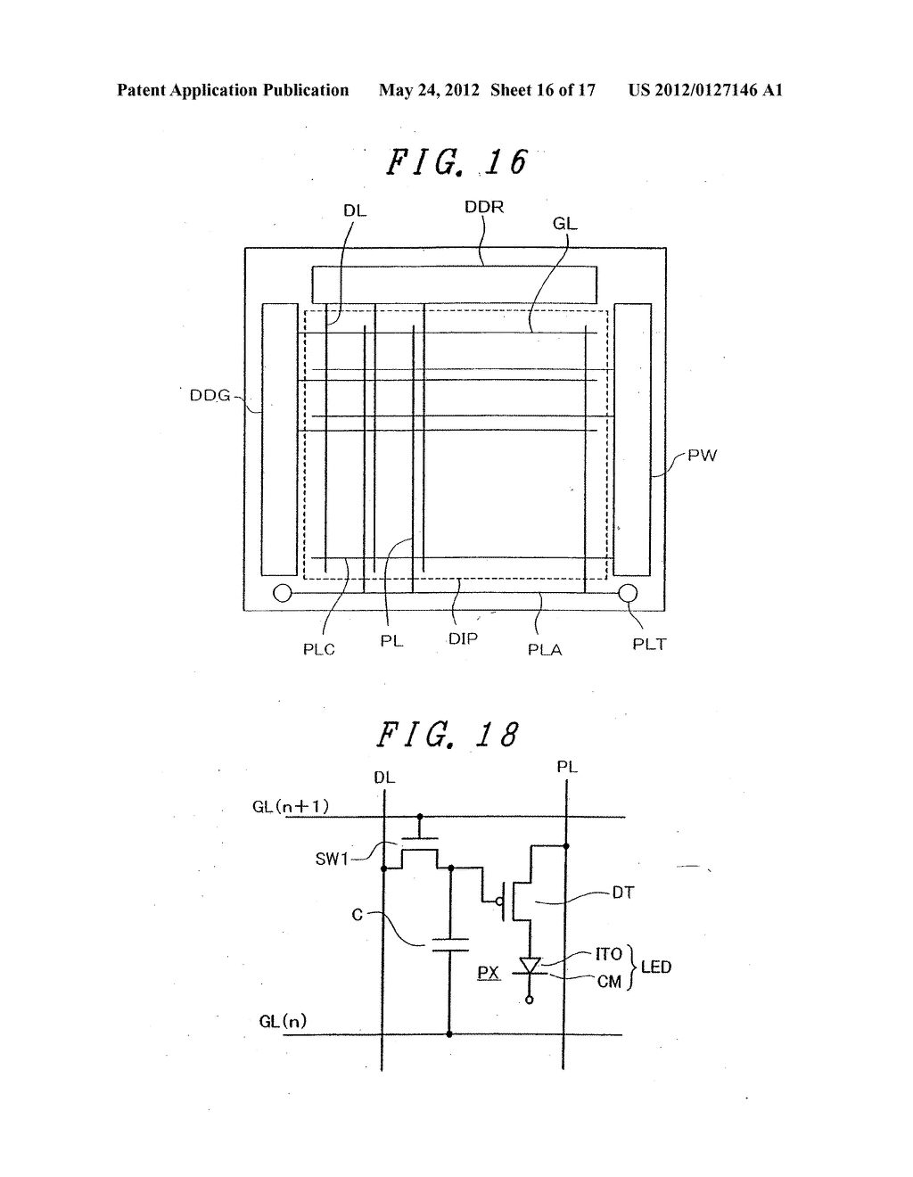Organic Electroluminescent Light Emitting Display Device - diagram, schematic, and image 17