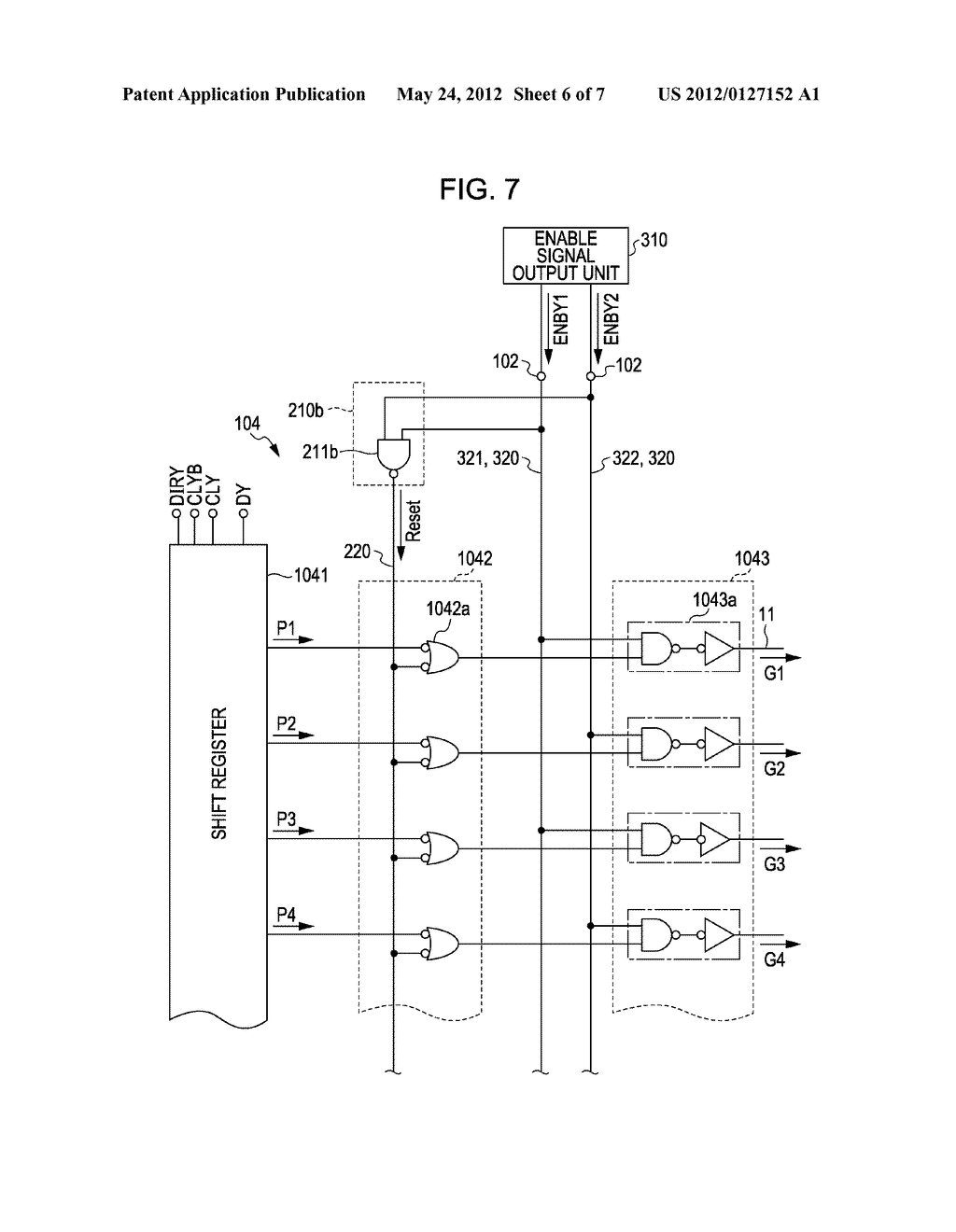 ELECTRO-OPTICAL DEVICE DRIVER CIRCUIT, ELECTRO-OPTICAL DEVICE, AND     ELECTRONIC APPARATUS - diagram, schematic, and image 07