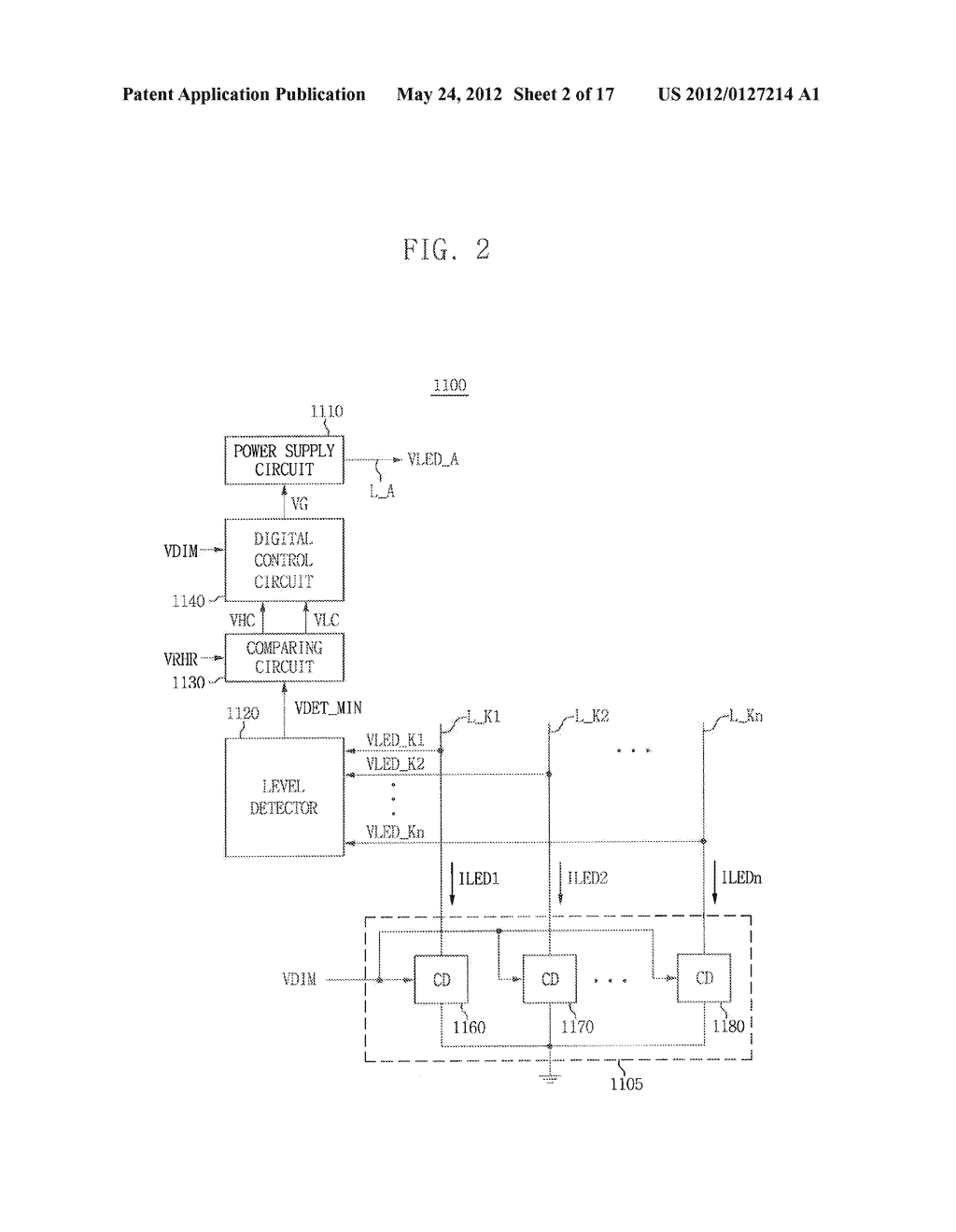LIGHT EMITTING DIODE DRIVING CIRCUIT, AND DISPLAY DEVICE HAVING THE SAME - diagram, schematic, and image 03