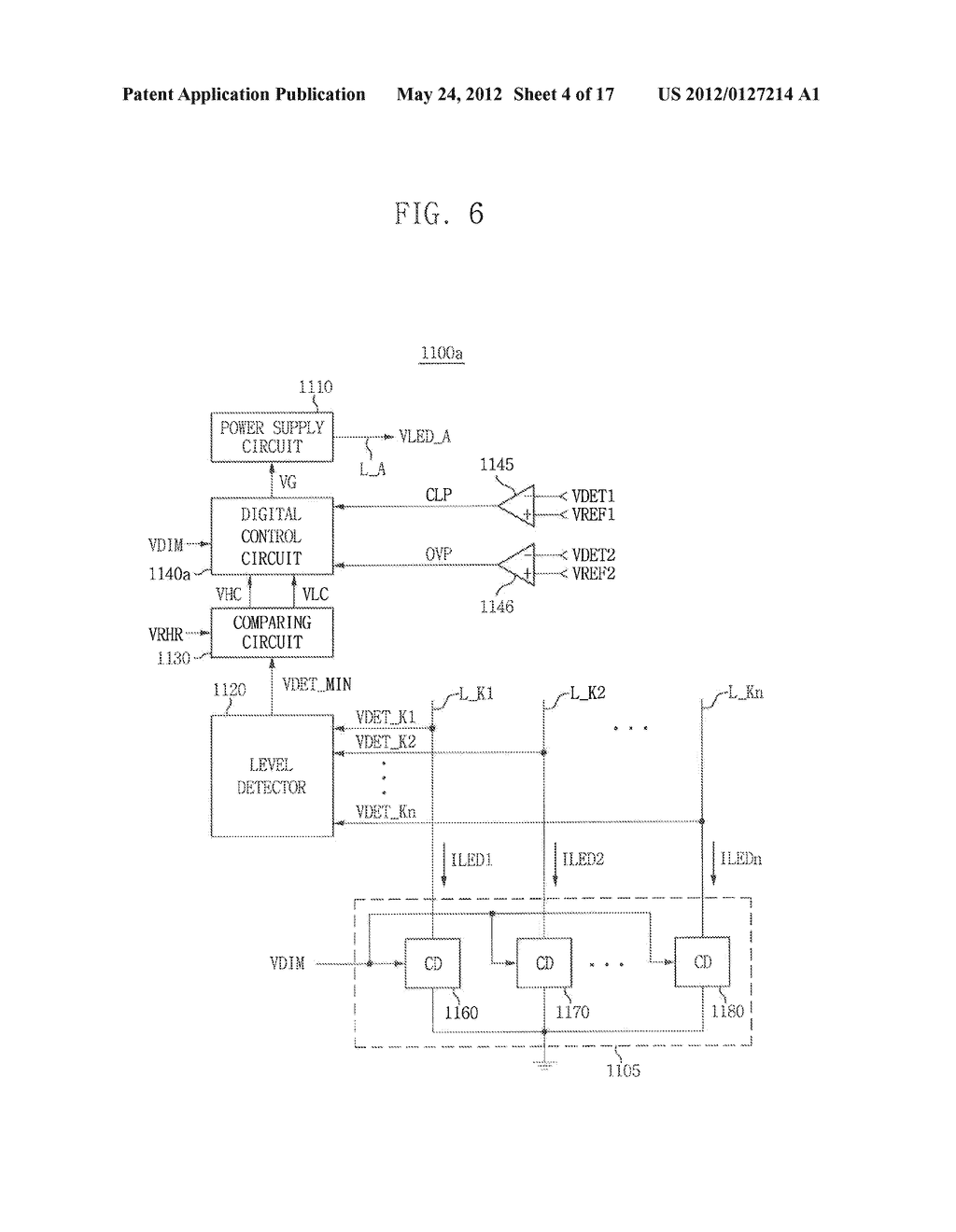 LIGHT EMITTING DIODE DRIVING CIRCUIT, AND DISPLAY DEVICE HAVING THE SAME - diagram, schematic, and image 05