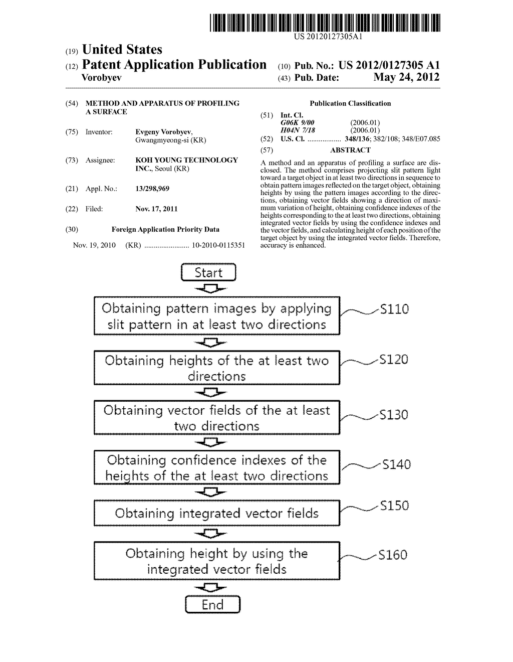 METHOD AND APPARATUS OF PROFILING A SURFACE - diagram, schematic, and image 01