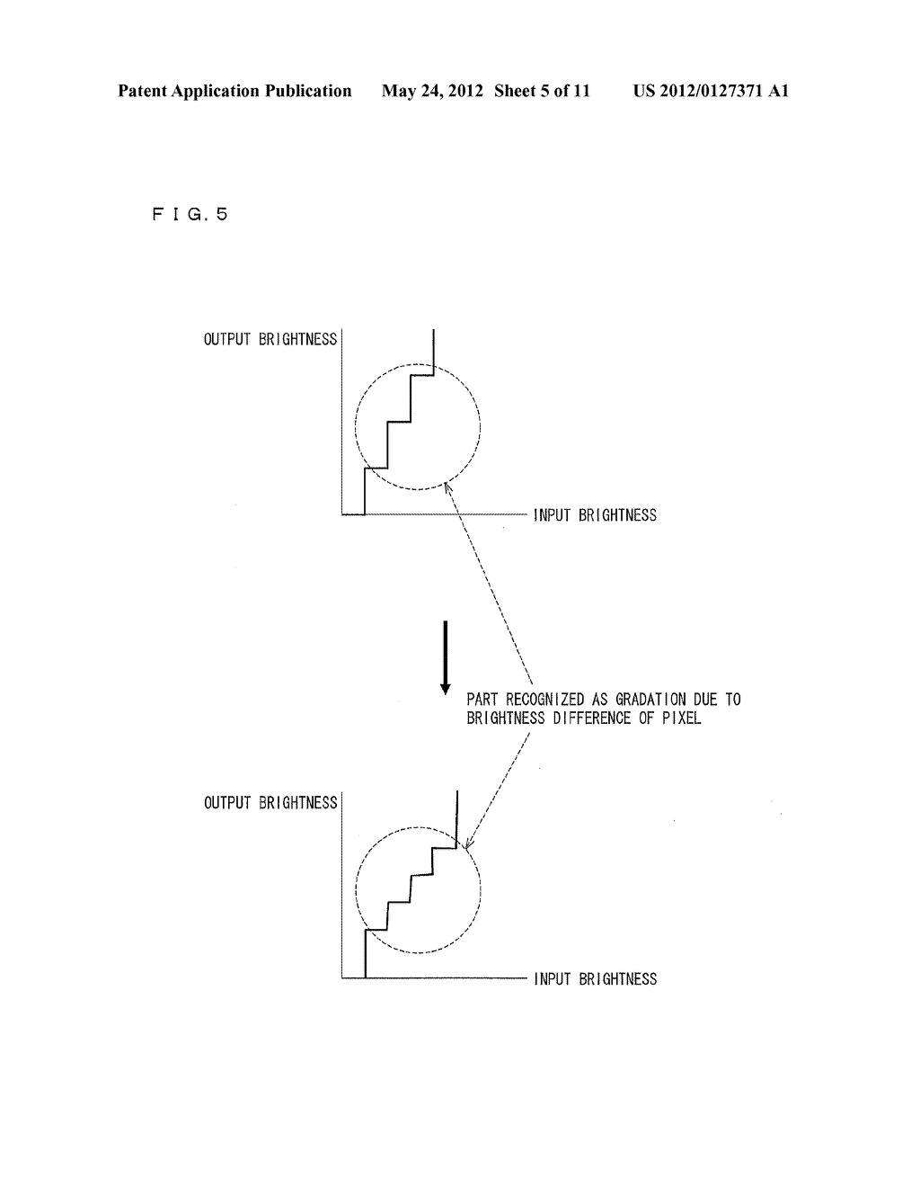 GRADATION ADJUSTMENT DEVICE, IMAGE DISPLAYING DEVICE, TELEVISION RECEIVER,     PROGRAM, AND COMPUTER-READABLE STORAGE MEDIUM HAVING PROGRAM RECORDED     THEREIN - diagram, schematic, and image 06