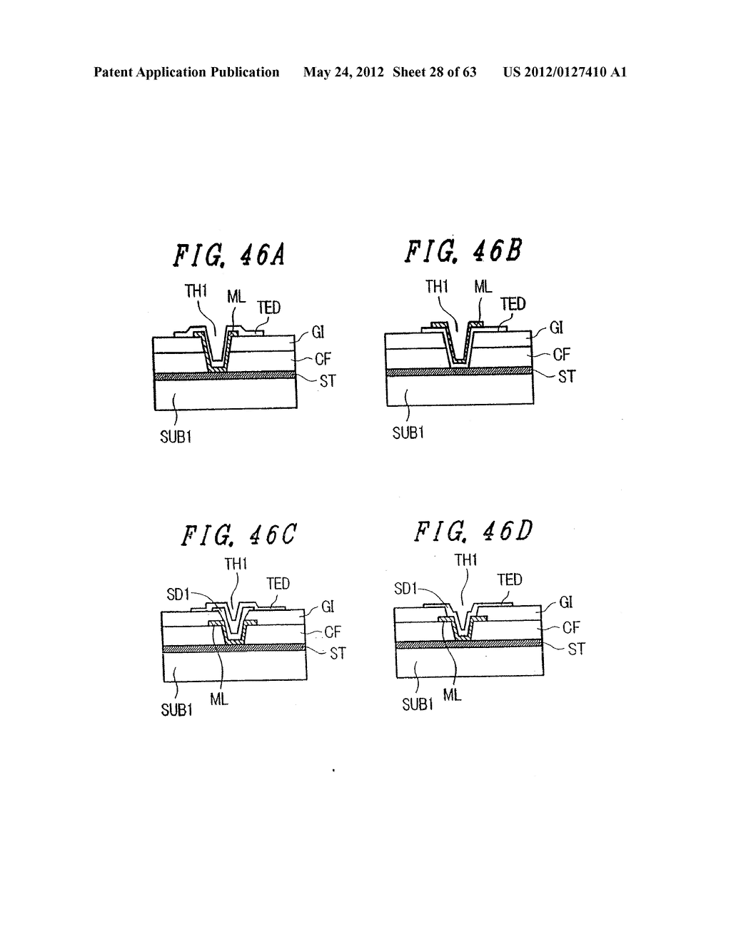 LIQUID CRYSTAL DISPLAY DEVICE, DISPLAY DEVICE AND MANUFACTURING METHOD     THEREOF - diagram, schematic, and image 29