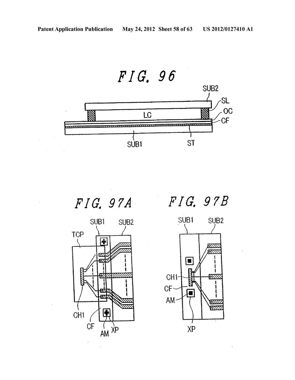 LIQUID CRYSTAL DISPLAY DEVICE, DISPLAY DEVICE AND MANUFACTURING METHOD     THEREOF - diagram, schematic, and image 59