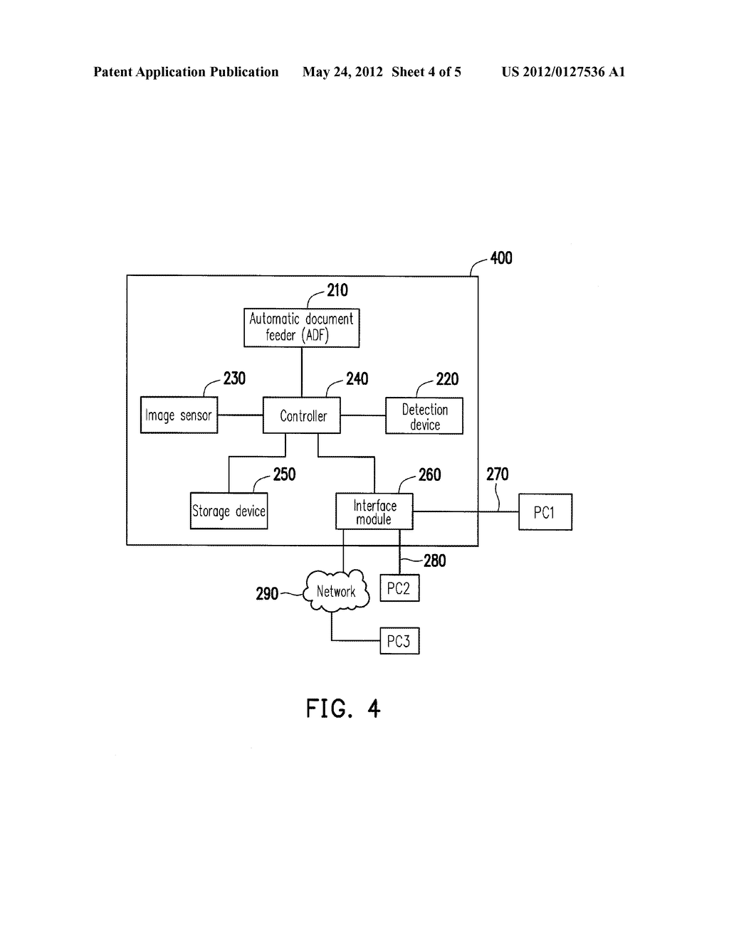 METHOD FOR IMAGE CORRECTION AND SCANNER USING THE SAME - diagram, schematic, and image 05