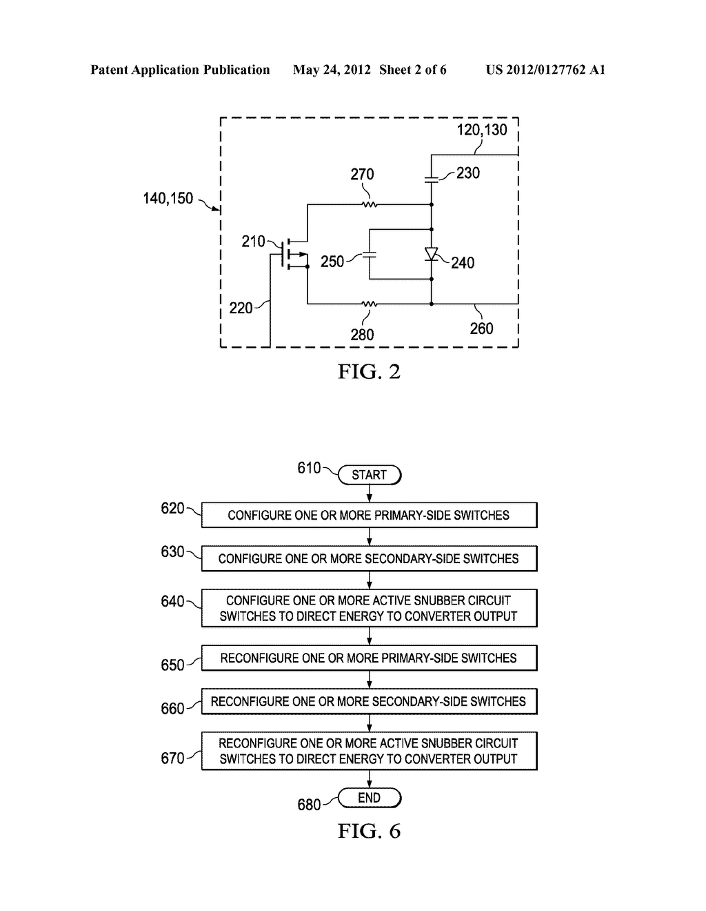 LLC CONVERTER ACTIVE SNUBBER CIRCUIT AND METHOD OF OPERATION THEREOF - diagram, schematic, and image 03