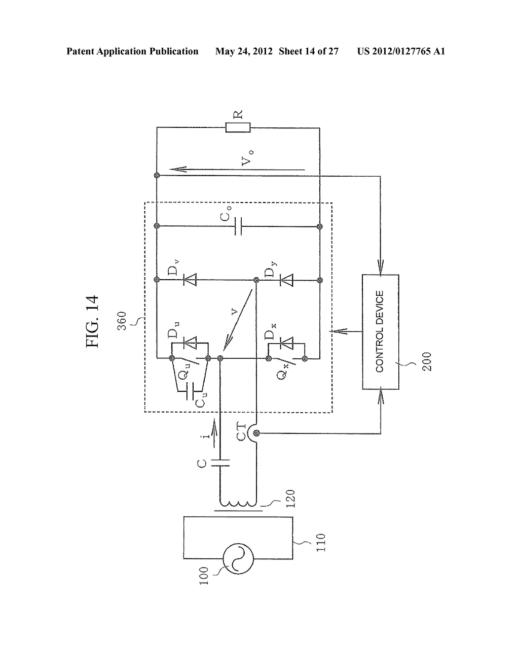 CONTACTLESS POWER TRANSFER SYSTEM AND CONTROL METHOD THEREOF - diagram, schematic, and image 15