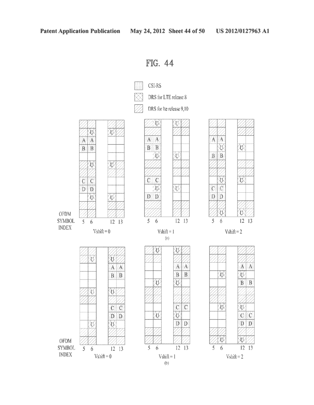 METHOD AND APPARATUS FOR TRANSMITTING DOWNLINK REFERENCE SIGNAL IN     WIRELESS COMMUNICATION SYSTEM THAT SUPPORTS MULTIPLE ANTENNAS - diagram, schematic, and image 45