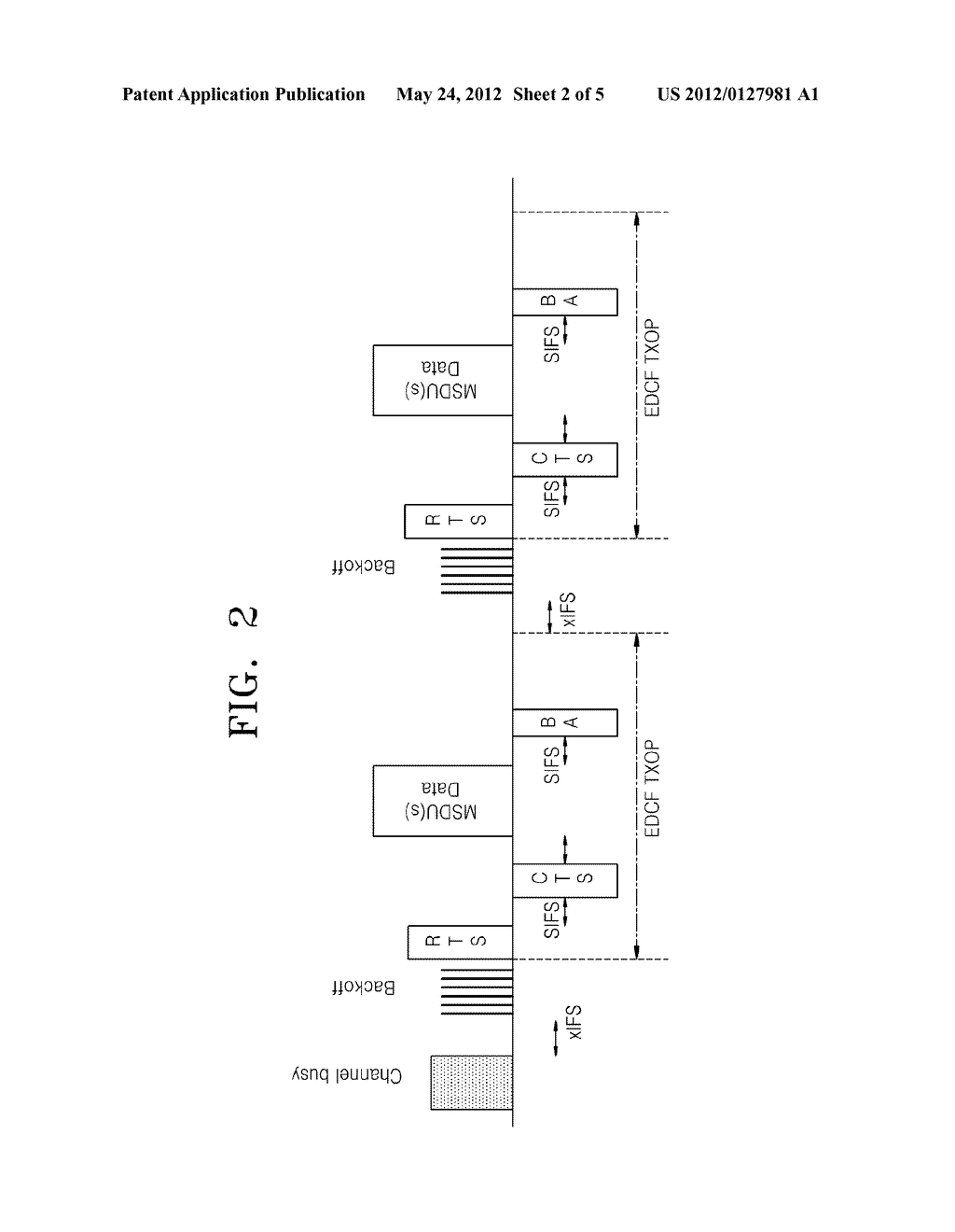 METHOD AND DEVICE FOR SENDING PACKETS ON A WIRELESS LOCAL AREA NETWORK - diagram, schematic, and image 03