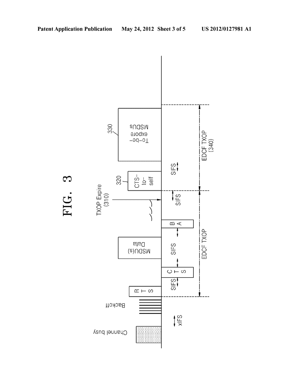METHOD AND DEVICE FOR SENDING PACKETS ON A WIRELESS LOCAL AREA NETWORK - diagram, schematic, and image 04