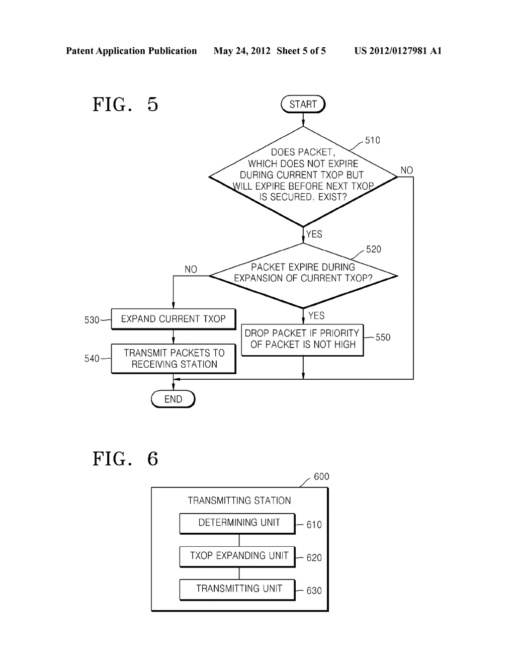 METHOD AND DEVICE FOR SENDING PACKETS ON A WIRELESS LOCAL AREA NETWORK - diagram, schematic, and image 06