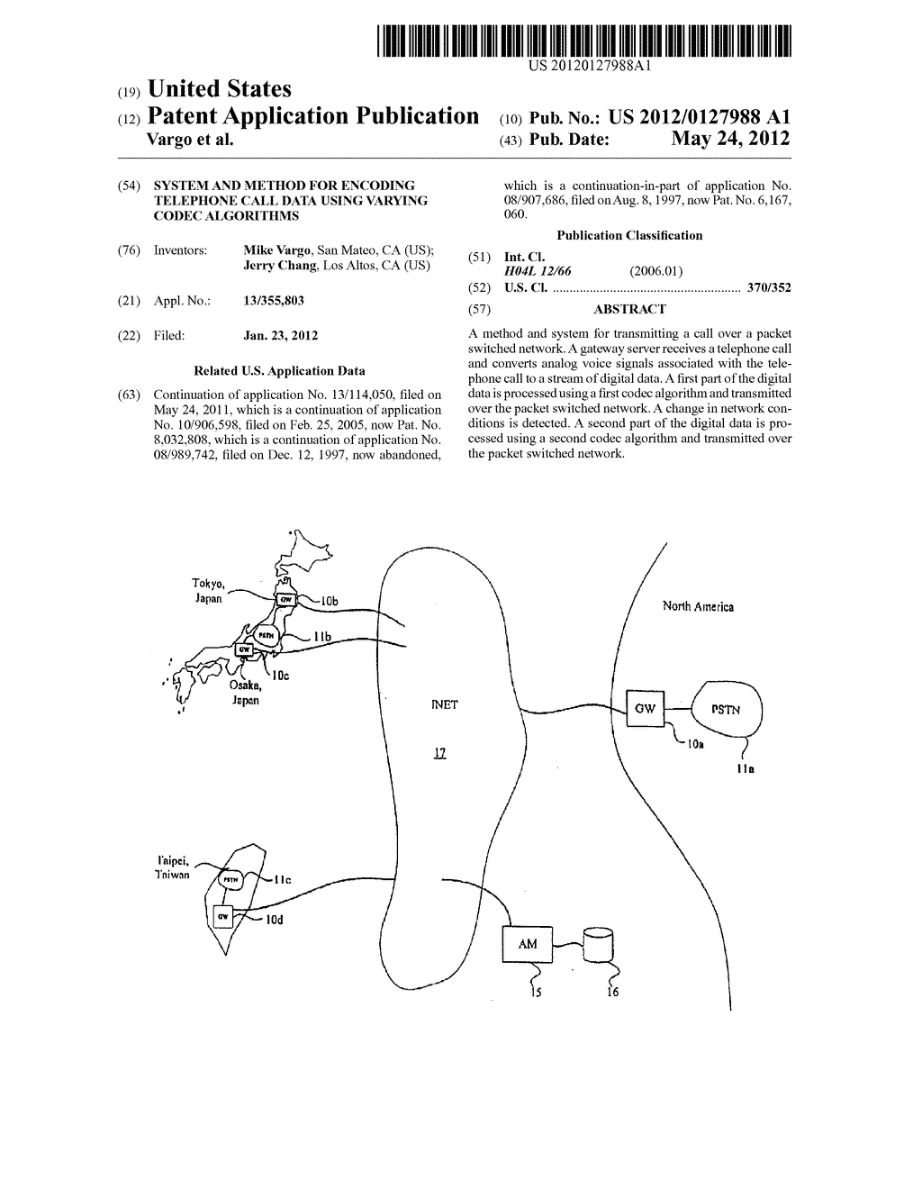 System and method for encoding telephone call data using varying codec     algorithms - diagram, schematic, and image 01