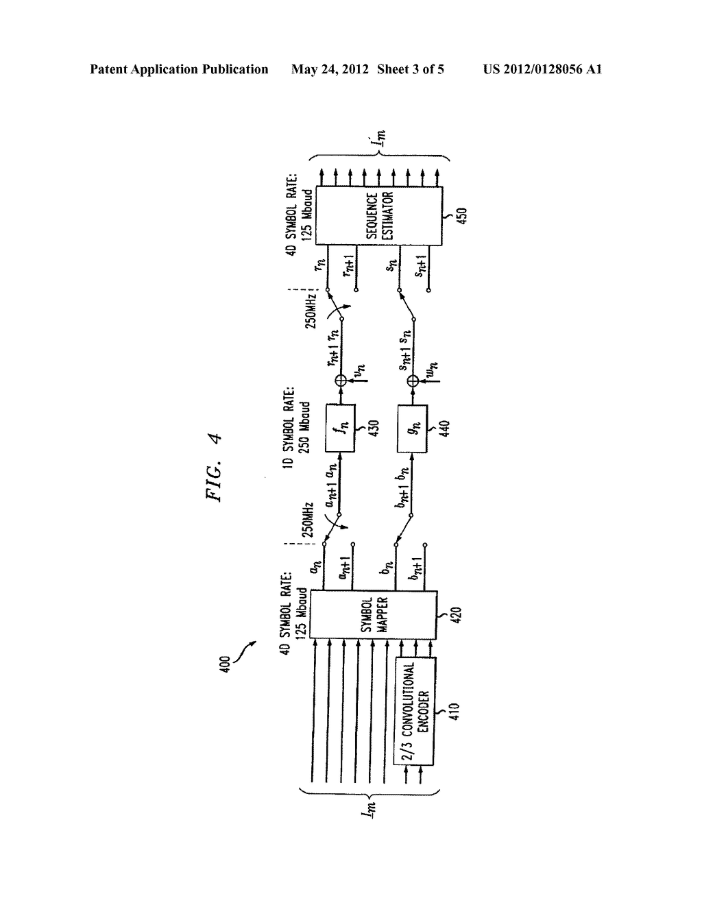 METHOD AND APPARATUS FOR JOINT EQUALIZATION AND DECODING OF     MULTIDIMENSIONAL CODES TRANSMITTED OVER MULTIPLE SYMBOL DURATIONS - diagram, schematic, and image 04