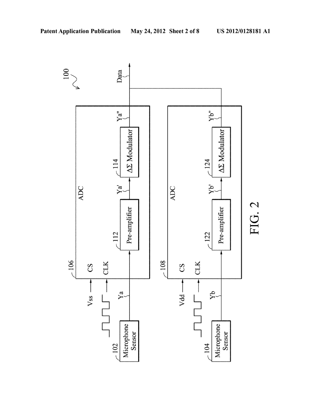 Analog-to-Digital Converter, Sound Processing Device, and Method for     Analog-to-Digital Conversion - diagram, schematic, and image 03
