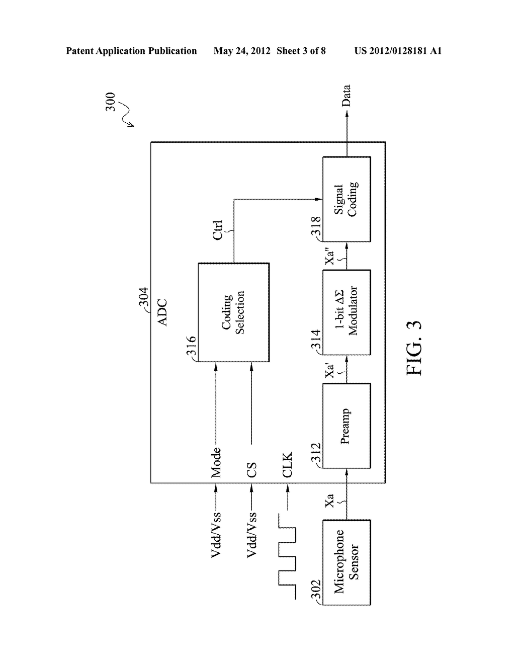 Analog-to-Digital Converter, Sound Processing Device, and Method for     Analog-to-Digital Conversion - diagram, schematic, and image 04