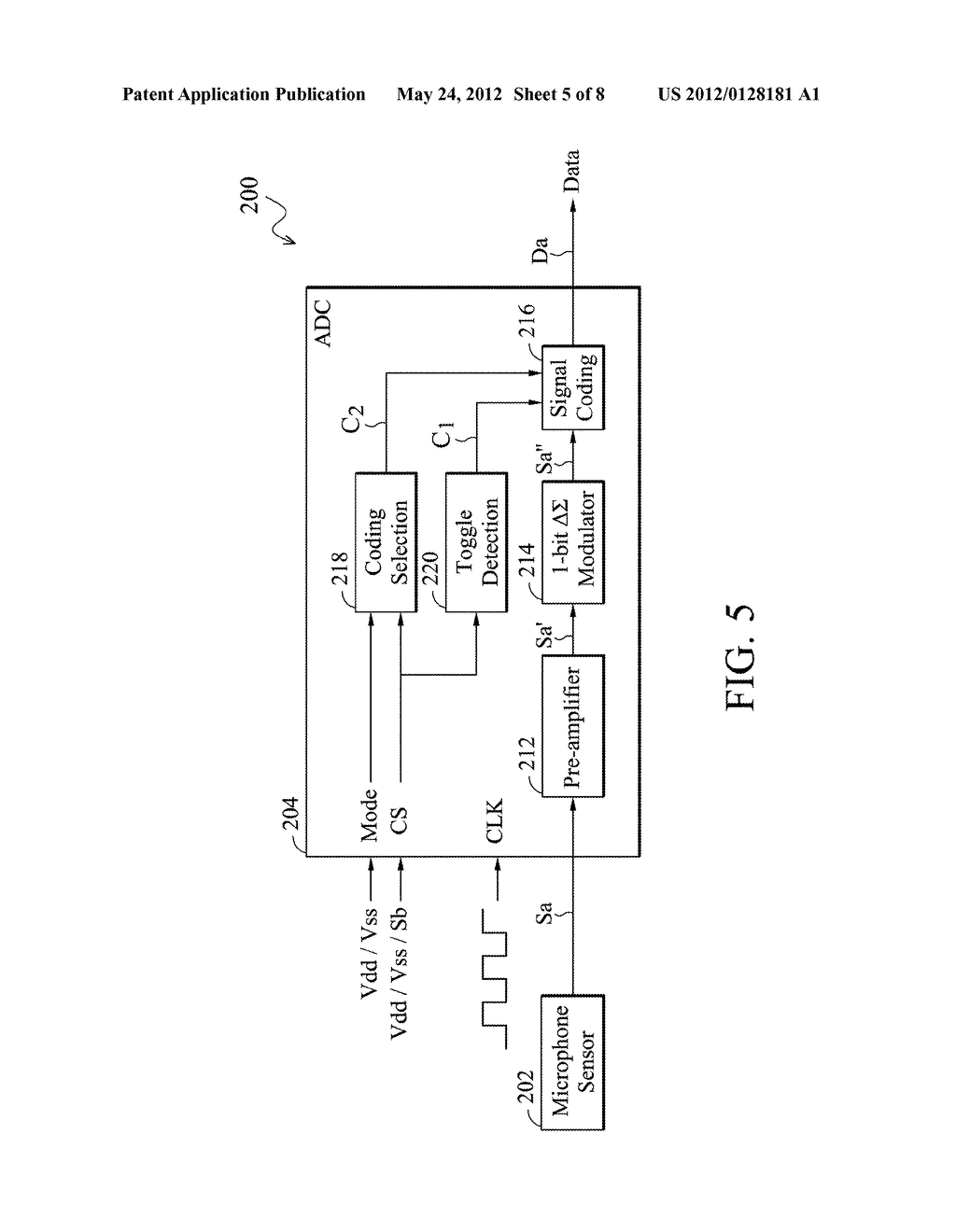 Analog-to-Digital Converter, Sound Processing Device, and Method for     Analog-to-Digital Conversion - diagram, schematic, and image 06