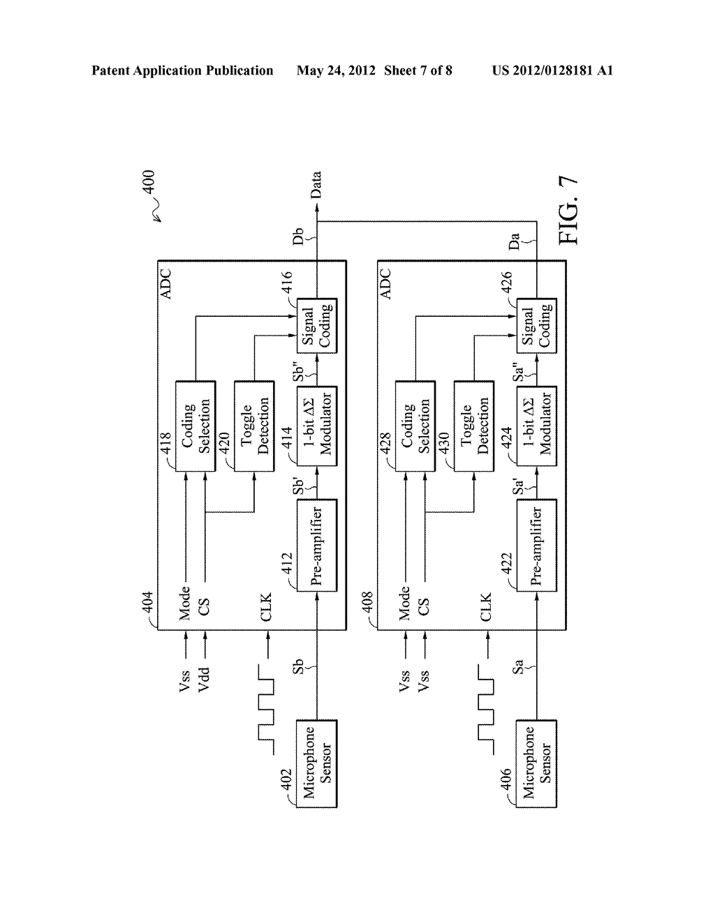 Analog-to-Digital Converter, Sound Processing Device, and Method for     Analog-to-Digital Conversion - diagram, schematic, and image 08