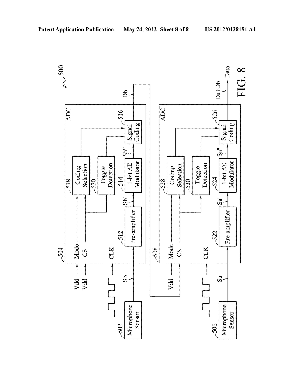 Analog-to-Digital Converter, Sound Processing Device, and Method for     Analog-to-Digital Conversion - diagram, schematic, and image 09