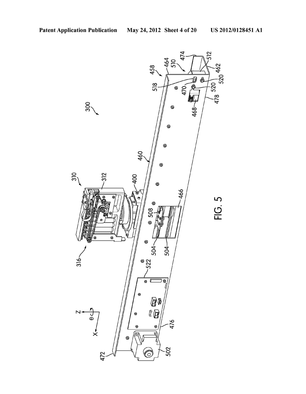 METHOD AND APPARATUS FOR EFFECTING TRANSFER OF REACTION RECEPTACLES IN AN     INSTRUMENT FOR MULTI-STEP ANALYTICAL PROCEDURES - diagram, schematic, and image 05