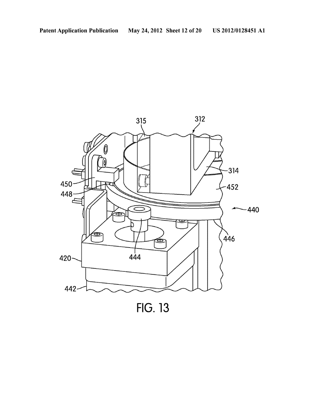METHOD AND APPARATUS FOR EFFECTING TRANSFER OF REACTION RECEPTACLES IN AN     INSTRUMENT FOR MULTI-STEP ANALYTICAL PROCEDURES - diagram, schematic, and image 13
