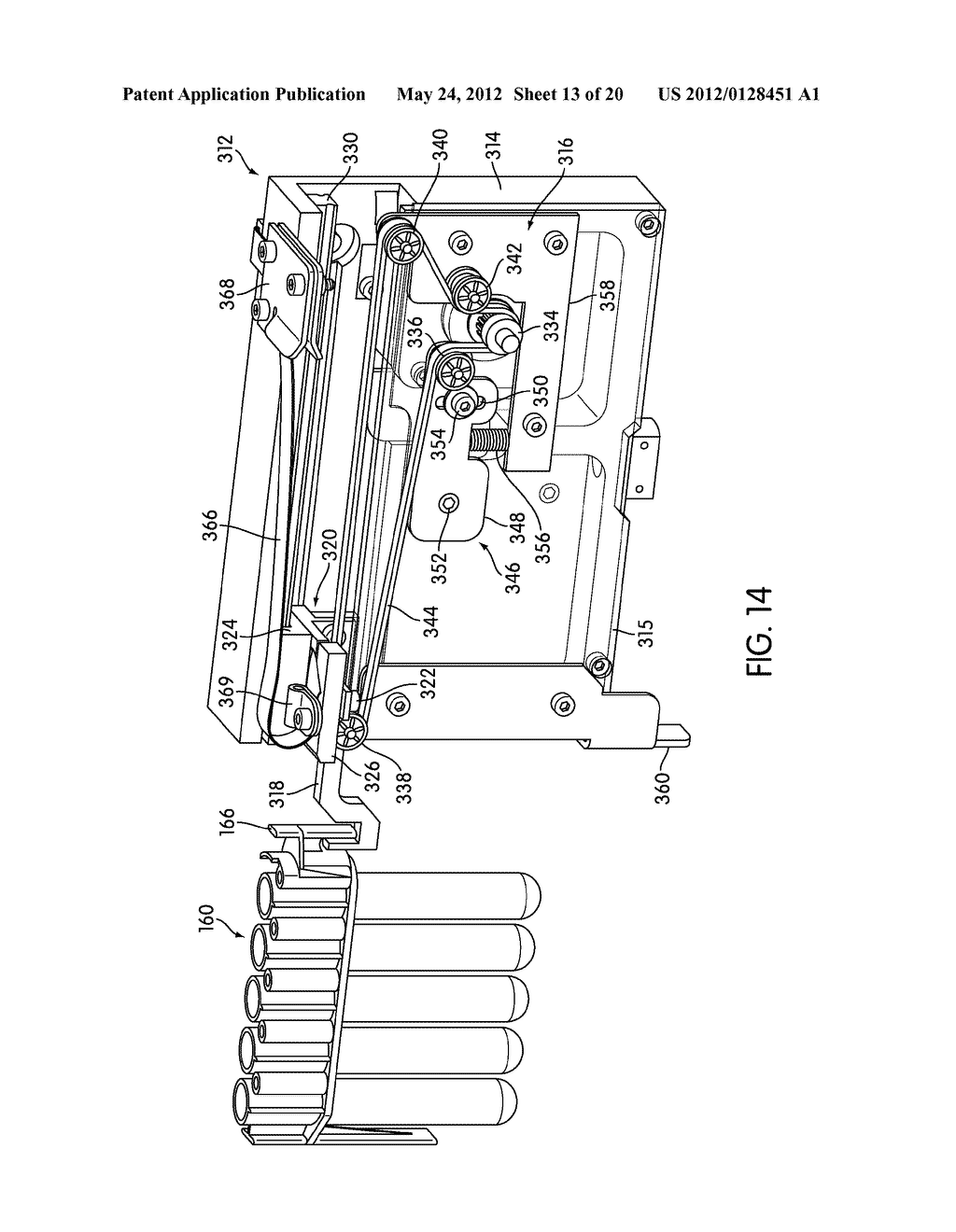 METHOD AND APPARATUS FOR EFFECTING TRANSFER OF REACTION RECEPTACLES IN AN     INSTRUMENT FOR MULTI-STEP ANALYTICAL PROCEDURES - diagram, schematic, and image 14