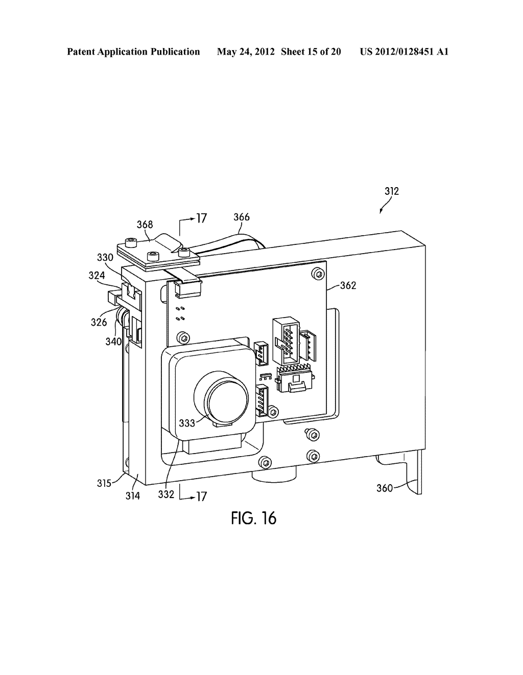 METHOD AND APPARATUS FOR EFFECTING TRANSFER OF REACTION RECEPTACLES IN AN     INSTRUMENT FOR MULTI-STEP ANALYTICAL PROCEDURES - diagram, schematic, and image 16