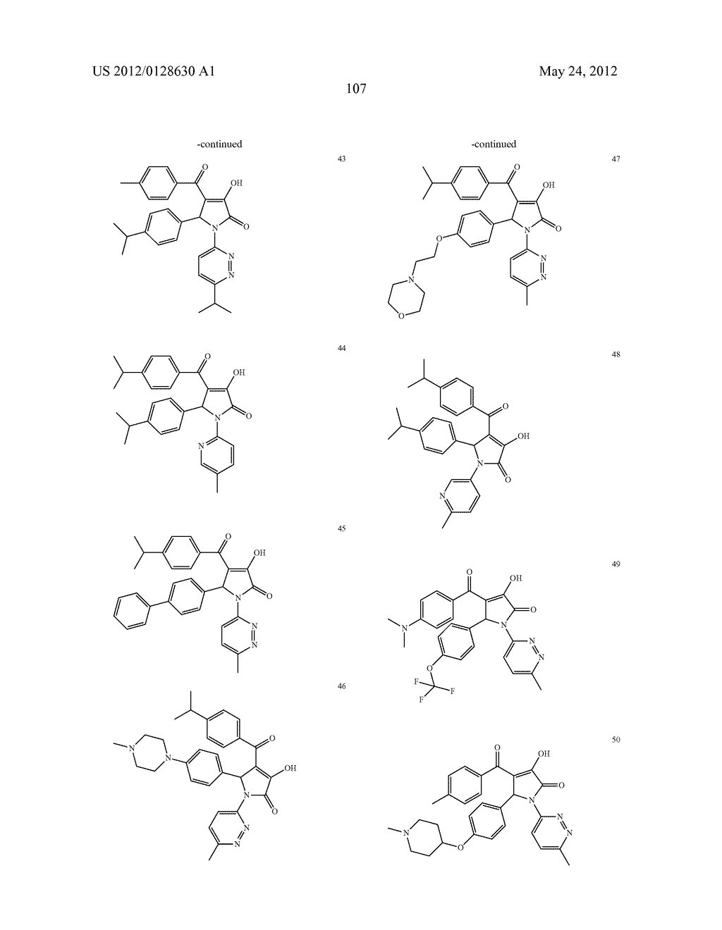 1-(6 MEMBERS AZO-HETEROCYCLIC)-PYRROLIN-2-ONE COMPOUNDS AS INHIBITORS OF     HEPATITIS C NS5B POLYMERASE, THE PHARAMACEUTICAL COMPOSITION THEREOF AND     THEIR THERAPEUTIC USE - diagram, schematic, and image 108