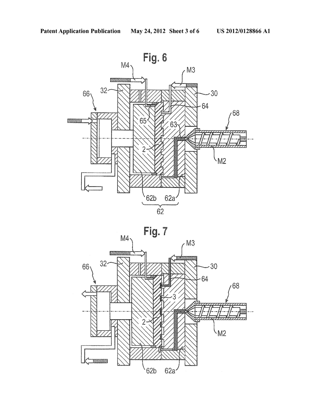 METHOD FOR PRODUCING PLASTIC MOLDED PARTS HAVING AN INTEGRATED CONDUCTIVE     TRACK - diagram, schematic, and image 04