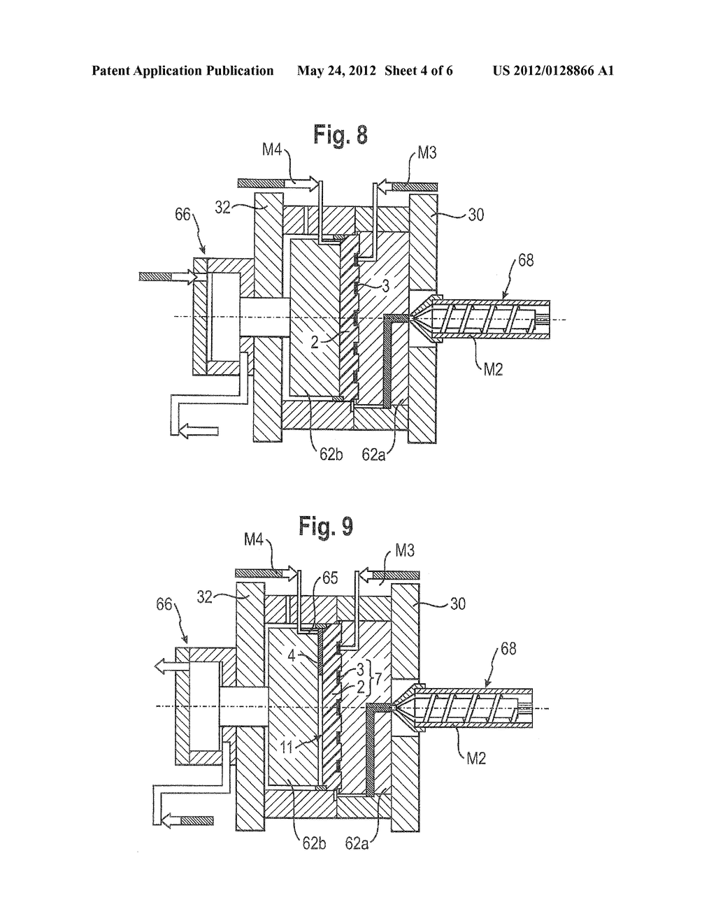 METHOD FOR PRODUCING PLASTIC MOLDED PARTS HAVING AN INTEGRATED CONDUCTIVE     TRACK - diagram, schematic, and image 05