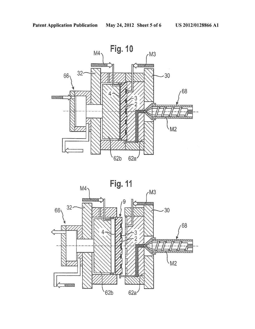 METHOD FOR PRODUCING PLASTIC MOLDED PARTS HAVING AN INTEGRATED CONDUCTIVE     TRACK - diagram, schematic, and image 06